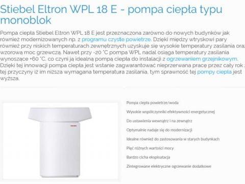 Stiebel Eltron WPL 18 E