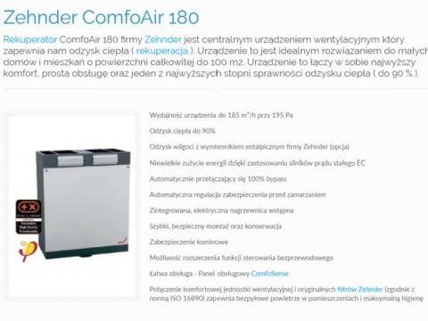 Zehnder ComfoAir 180