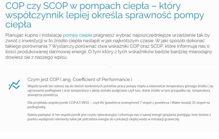 COP czy SCOP w pompach ciepła – który współczynnik lepiej określa sprawność pompy ciepła
