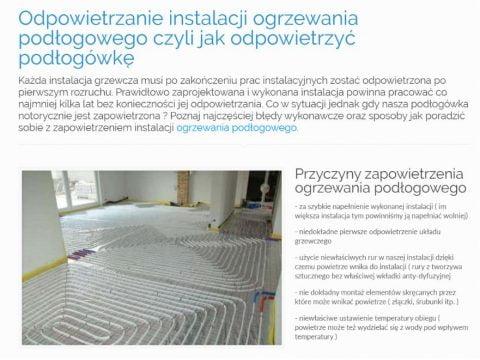 Odpowietrzanie instalacji ogrzewania podłogowego czyli jak odpowietrzyć podłogówkę