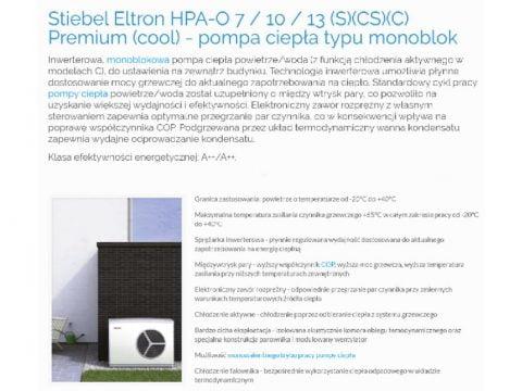 Stiebel Eltron HPA-O 7 10 13 (S)(CS)(C) Premium (cool) - pompa ciepła typu monoblok