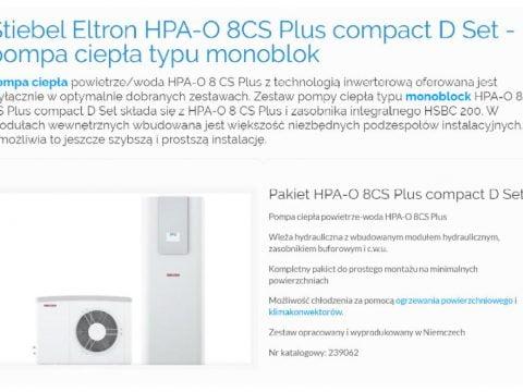 Stiebel Eltron HPA-O 8CS Plus compact D Set - pompa ciepła typu monoblok