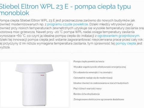 Stiebel Eltron WPL 23 E - pompa ciepła typu monoblok