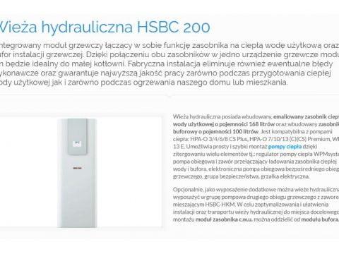 Wieża hydrauliczna HSBC 200