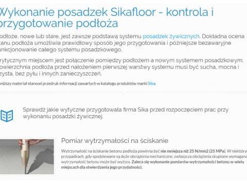 Wykonanie posadzek Sikafloor - kontrola i przygotowanie podłoża