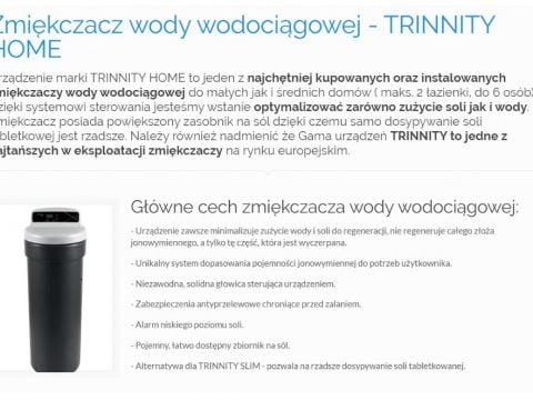 Zmiękczacz wody wodociągowej - TRINNITY HOME