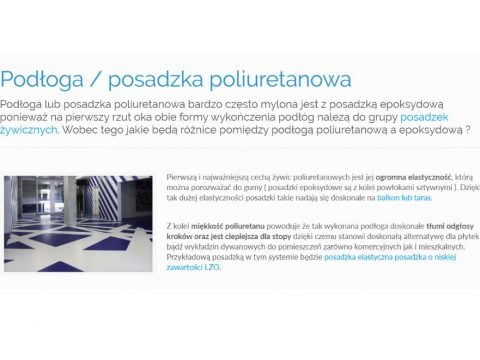 Podłoga - posadzka poliuretanowa
