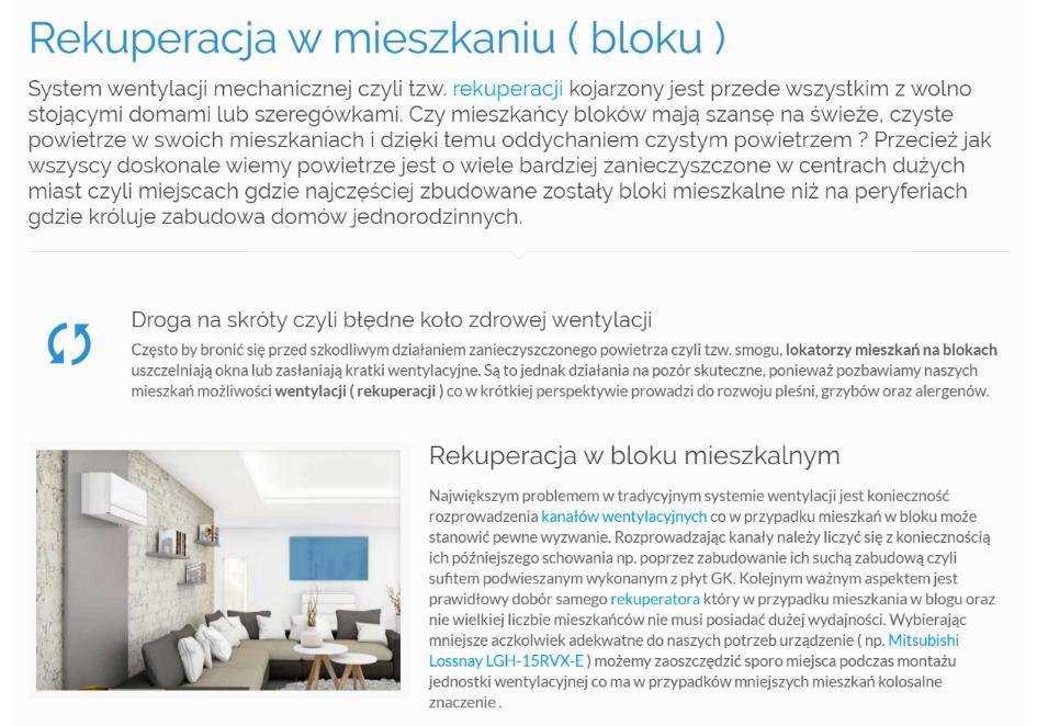Rekuperacja w mieszkaniu ( bloku )