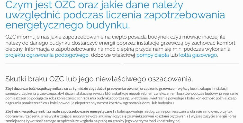 Czym jest OZC oraz jakie dane należy uwzględnić podczas liczenia zapotrzebowania energetycznego budynku