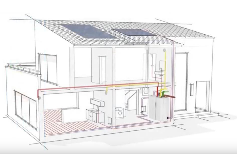 Pompa ciepła z rekuperatorem i klimatyzatorem