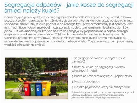 Segregacja odpadów - jakie kosze do segregacji śmieci należy kupić
