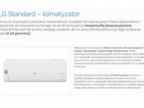 LG Standard – klimatyzator - K1