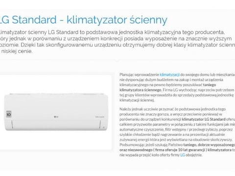 LG Standard - klimatyzator ścienny