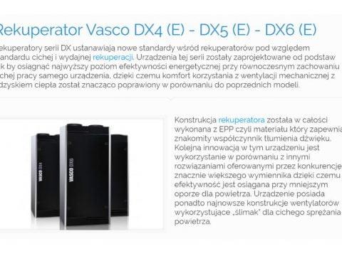 Rekuperator Vasco DX4 (E) - DX5 (E) - DX6 (E)