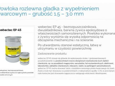 Powłoka rozlewna gładka z wypełnieniem kwarcowym – grubość 1.5 – 3.0 mm - K1