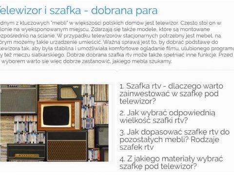 Telewizor i szafka - dobrana para - K4