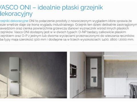 VASCO ONI – grzejnik dekoracyjny - K1
