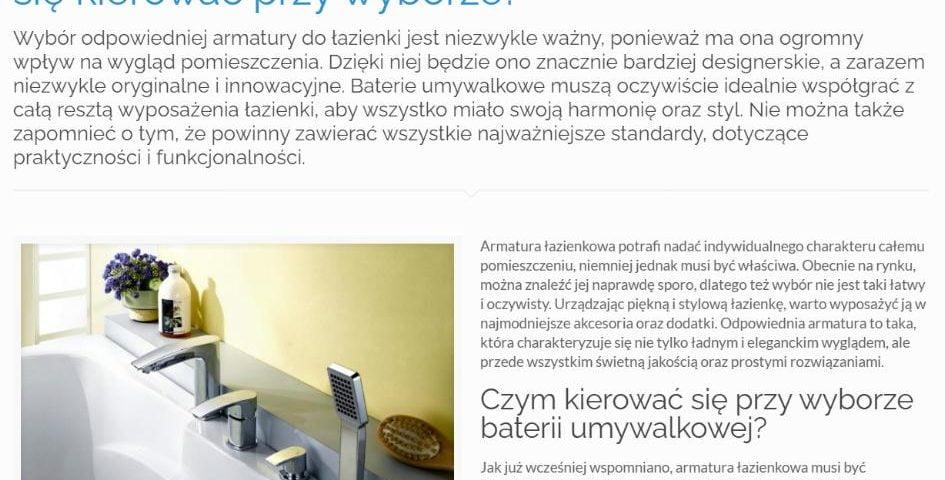 Armatura łazienkowa – najnowsze trendy K4