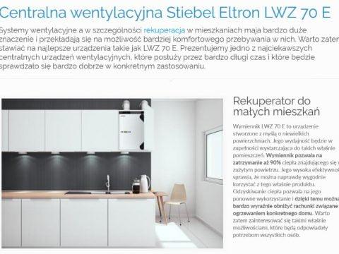 Centralna wentylacyjna Stiebel Eltron LWZ 70 E