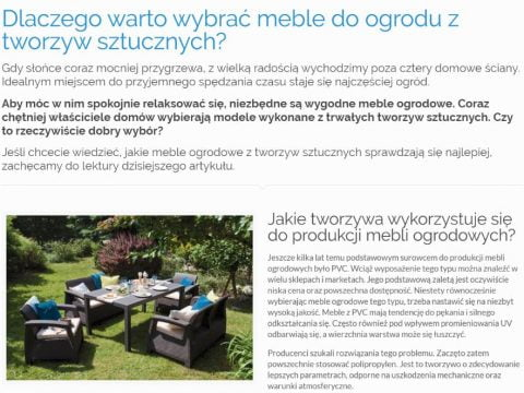 Dlaczego warto wybrać meble do ogrodu z tworzyw sztucznych - K1