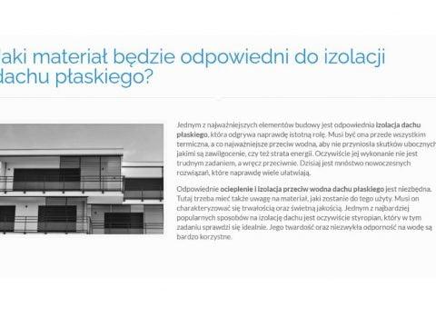 Jaki materiał będzie odpowiedni do izolacji dachu płaskiego - K1