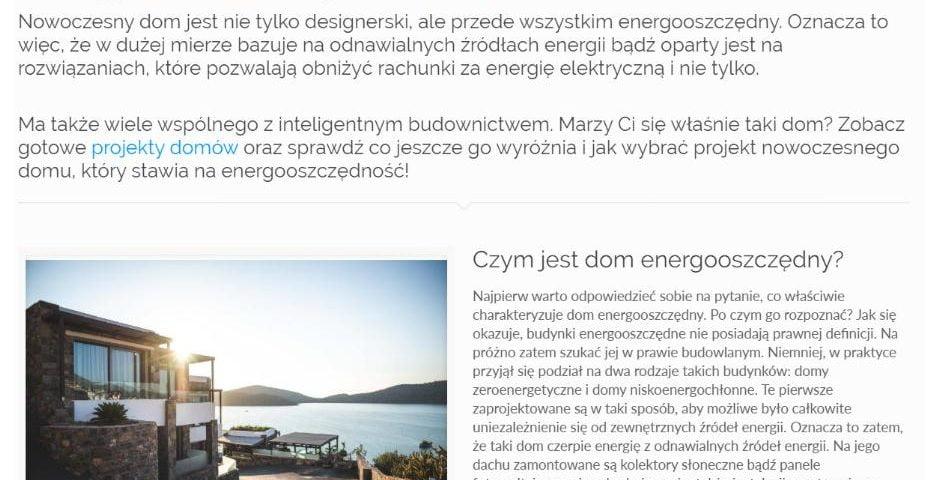Nowoczesne domy. Poznaj projekty energooszczędnych domów - K1