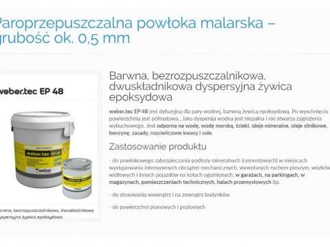 Paroprzepuszczalna powłoka malarska – grubość ok. 0,5 mm - K1