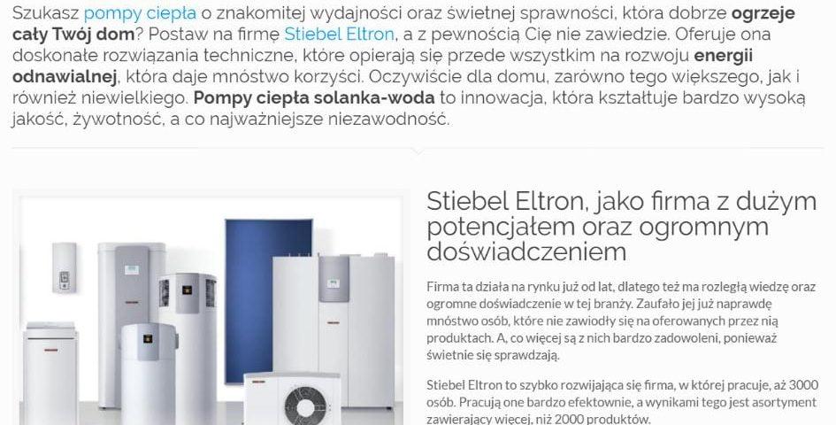 Pompa ciepła solanka woda Stiebel Eltron - K1