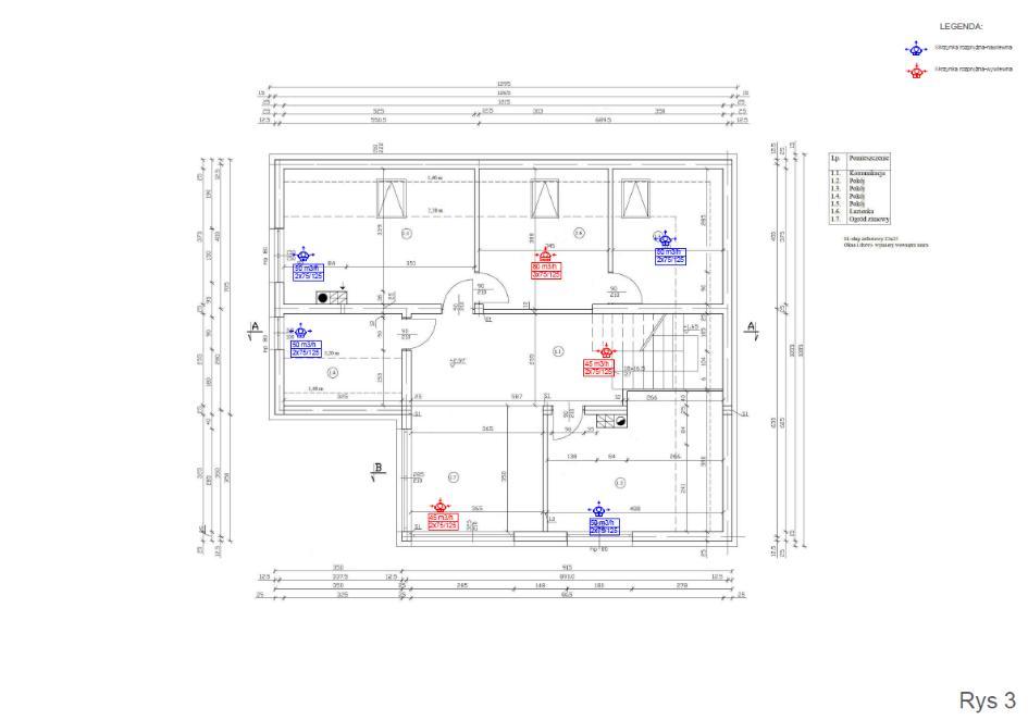 Przykładowy projekt wentylacji mechanicznej - rekuperacji