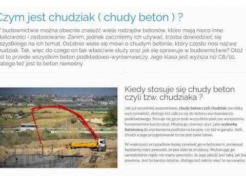 Czym jest chudziak ( chudy beton ) - K1