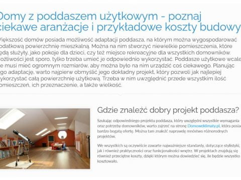Domy z poddaszem użytkowym - poznaj ciekawe aranżacje i przykładowe koszty budowy - K1