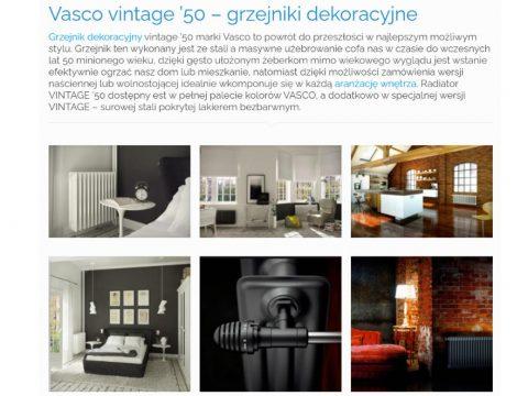 Vasco vintage '50 – grzejniki dekoracyjne