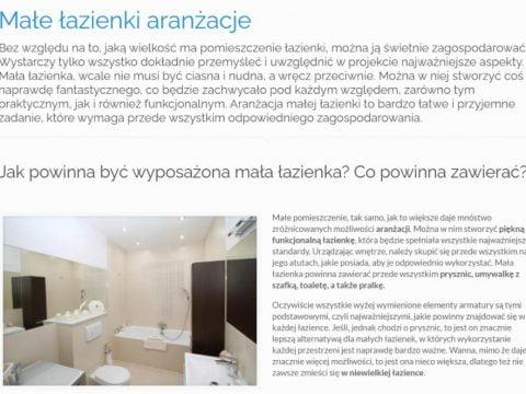 Małe łazienki aranżacje - K1