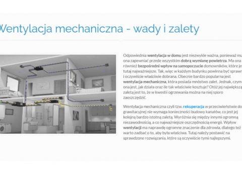 Wentylacja mechaniczna - wady i zalety - K1