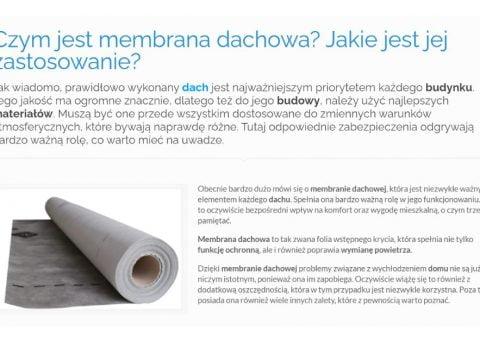 Czym jest membrana dachowa- Jakie jest jej zastosowanie