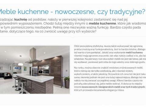 Meble kuchenne - nowoczesne, czy tradycyjne - K1