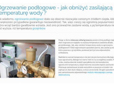 Ogrzewanie podłogowe - jak obniżyć zasilającą temperaturę wody