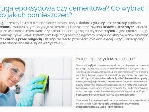 Fuga epoksydowa czy cementowa - Co wybrać i do jakich pomieszczeń