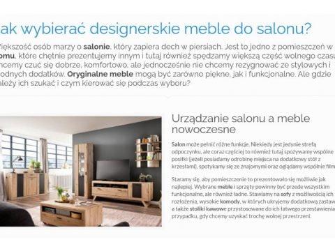 Jak wybierać designerskie meble do salonu