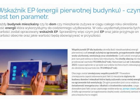 Wskaźnik EP (energii pierwotnej budynku) - czym jest ten parametr