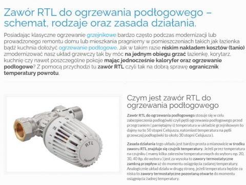 Zawór RTL do ogrzewania podłogowego – schemat, rodzaje oraz zasada działania