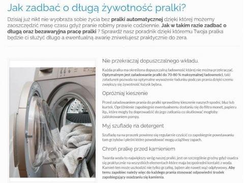 Jak zadbać o długą żywotność pralki - K1