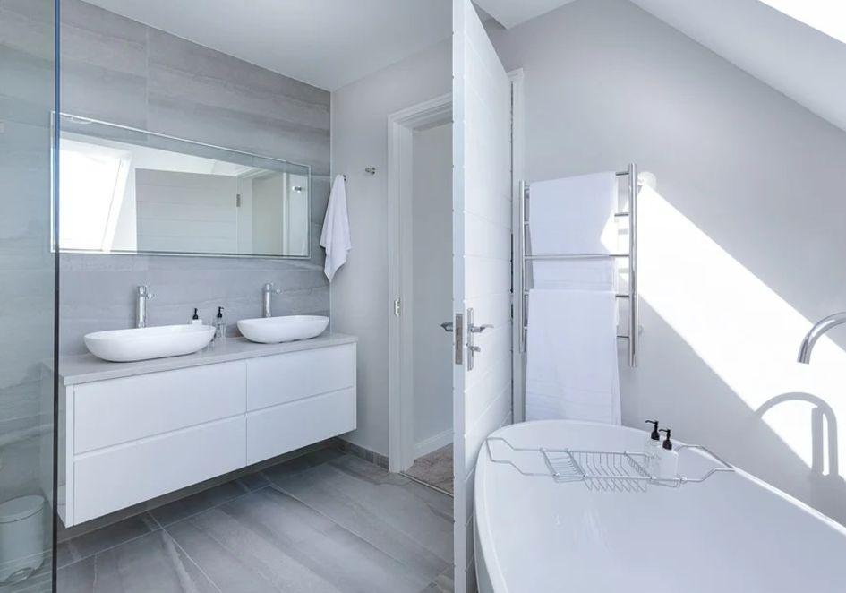 łazienka - farba - aranżacja