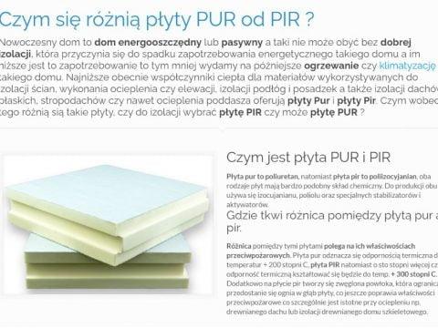 Czym się różnią płyty PUR od PIR