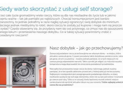 Kiedy warto skorzystać z usługi self storage