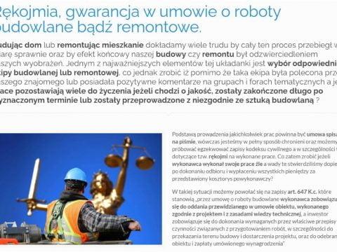Rękojmia, gwarancja w umowie o roboty budowlane bądź remontowe