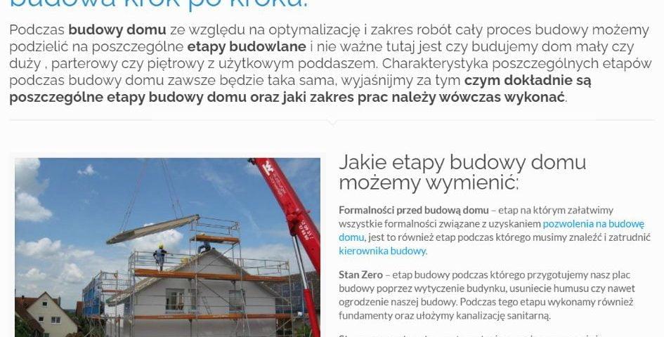 Etapy budowy domu jednorodzinnego czyli budowa krok po kroku