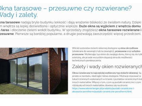 Okna tarasowe – przesuwne czy rozwierane - Wady i zalety