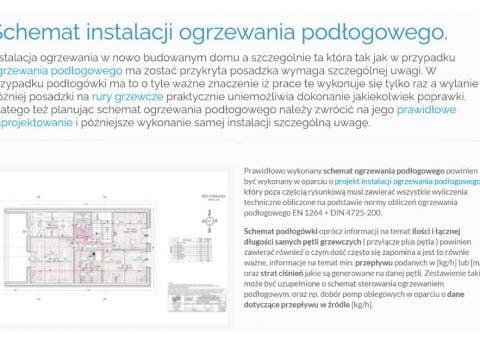 Schemat instalacji ogrzewania podłogowego