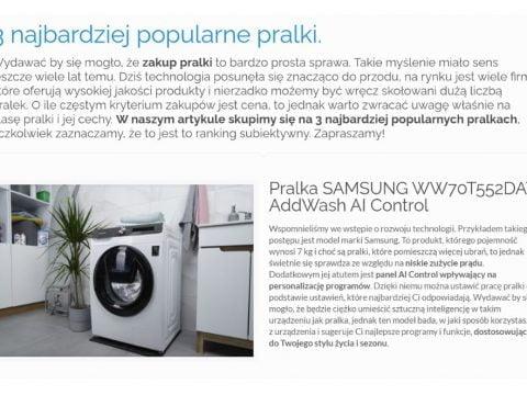 3 najbardziej popularne pralki